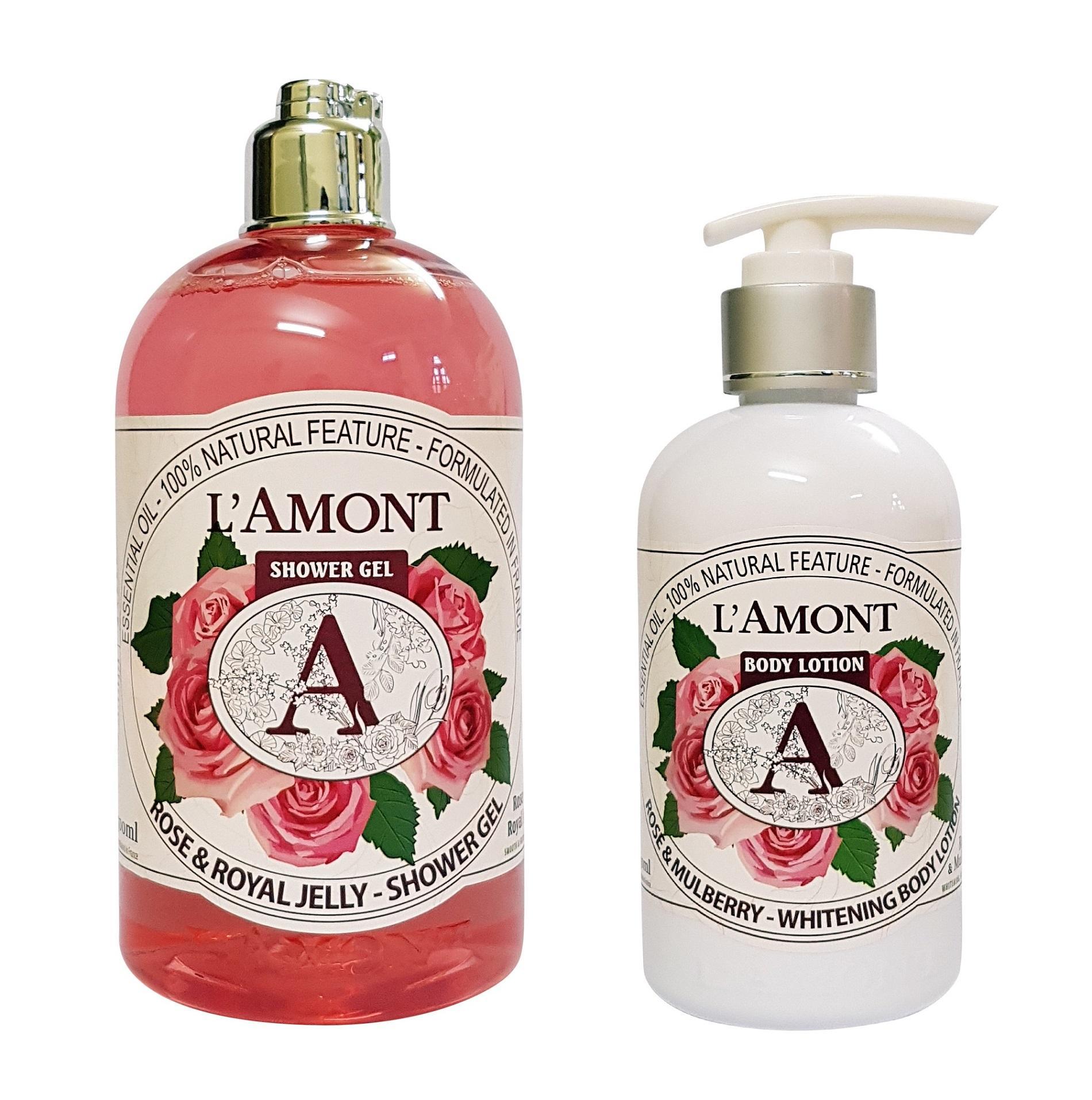 Hình ảnh Combo Sữa Tắm Và Sữa Dưỡng Thể Lamont En Provence Rose
