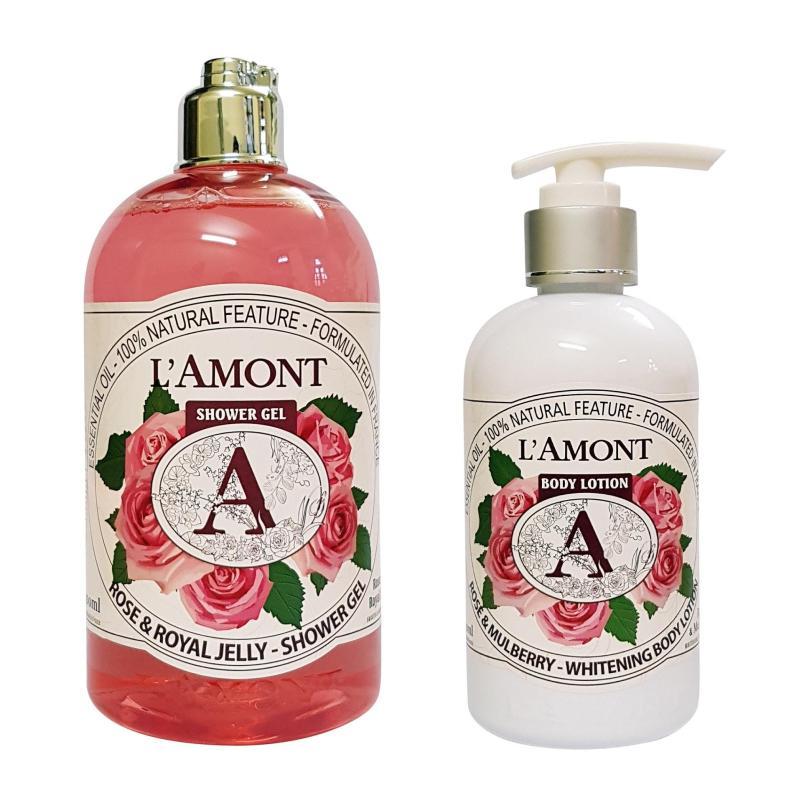 Combo Sữa Tắm Và Sữa Dưỡng Thể Lamont En Provence Rose nhập khẩu