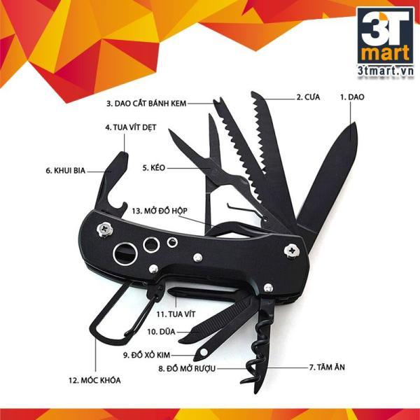 Bộ dụng cụ đa năng bỏ túi 3T Mart (đen)