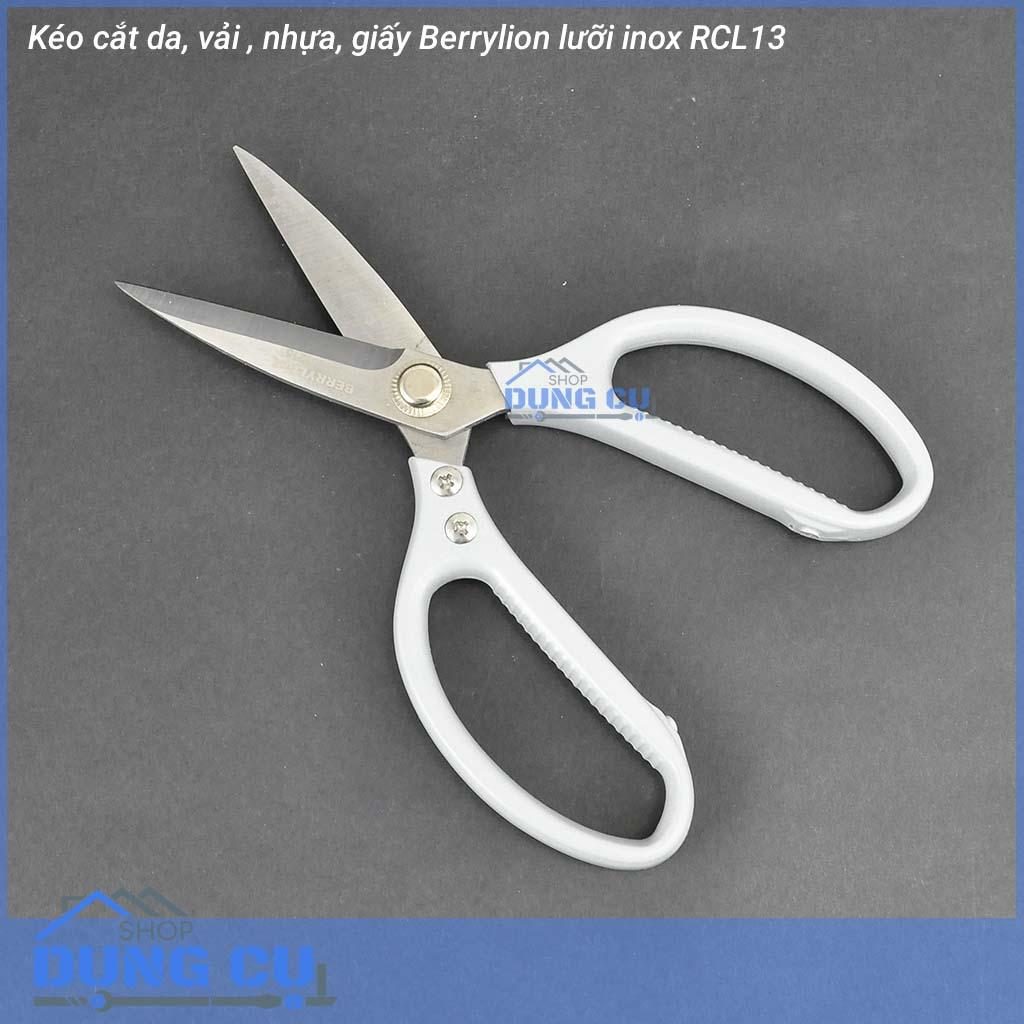 Kéo cắt vải, da, giấy Berrylion lưỡi inox RCL13 chuyên dụng