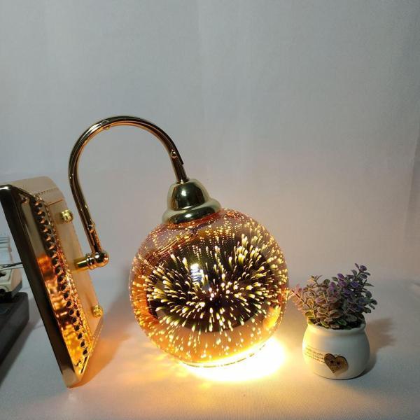 Đèn gắn tường quả cầu lửa 3D trang trí siêu lung linh - đã kèm bóng LED