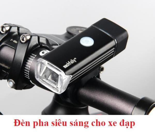 USB Sạc Hợp Kim Nhôm Xe Đạp Trước Ánh Sáng Đèn LED Đèn Pha - quốc tế