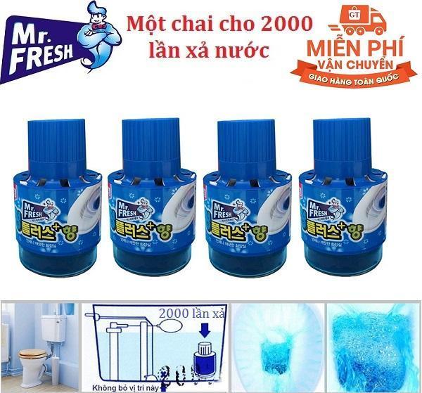 Bộ 4 Chai thả bồn cầu tự động làm sạch diệt khuẩn và làm thơm Mr.Fresh GTA138