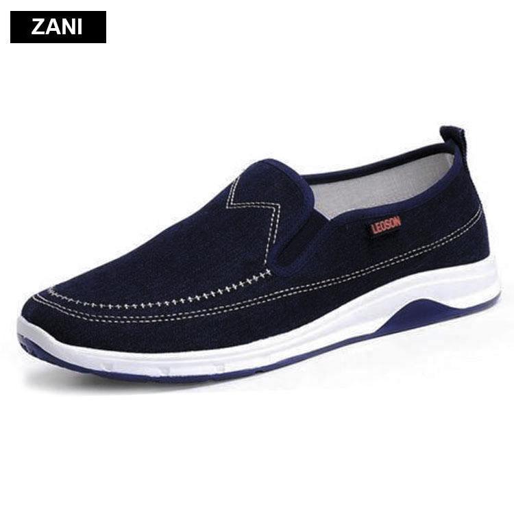 Bán Giay Vải Lười Nam Zani Zn5414Xd Xanh Đen Rẻ Trong Hà Nội