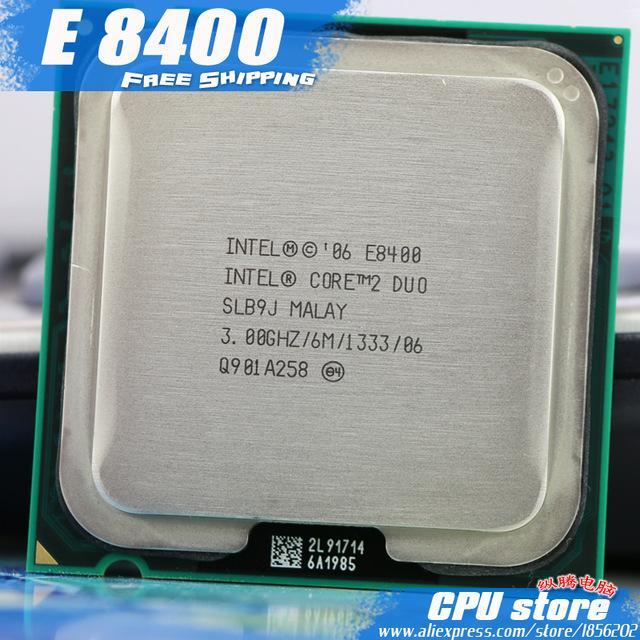 Bộ vi xử lý Intel Core 2 Duo E8400 6M bộ nhớ đệm, 2 Core, 2 luồng, bus1333 MHz