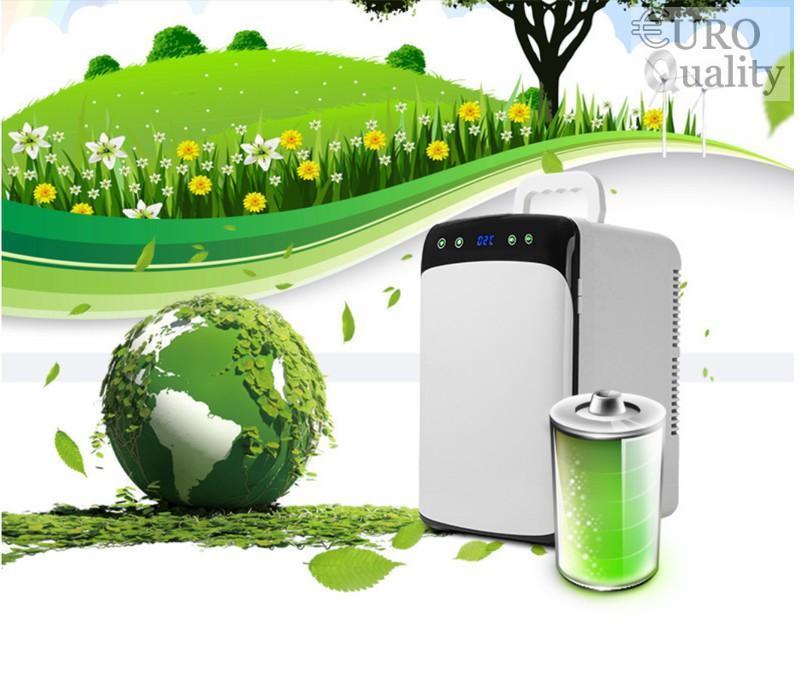 Tủ lạnh mini ô tô 12v/220v Dual-Fan LCD CWF-12L hiển thị nhiệt độ (-2 đến 60 độ C) - Euro Quality