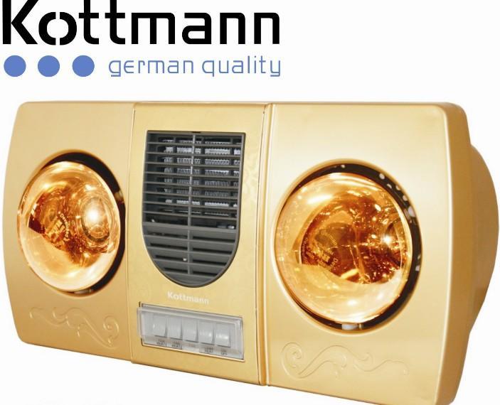 Đèn sưởi nhà tắm Kottmann 2 bóng K2B-HW-G