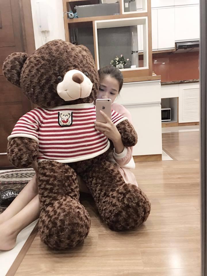 Hình ảnh Gấu bông teddy siêu dễ thương khổ vải 1m2
