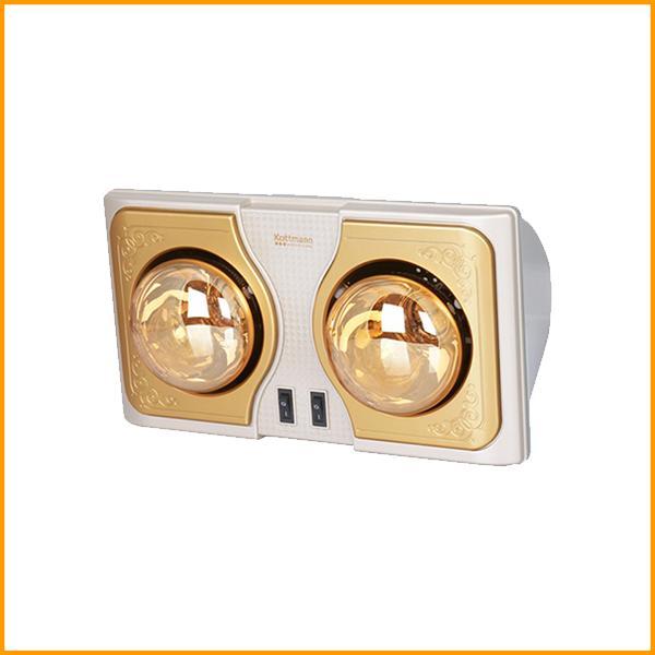 Đèn sưởi nhà tắm Kottmann 2 bóng vàng K2BH
