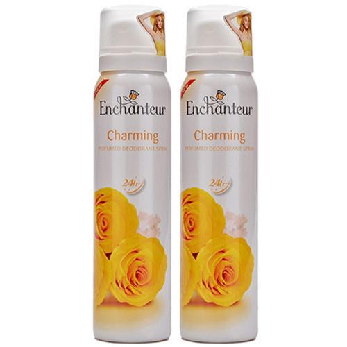 Combo 2 xịt khử mùi hương nước hoa Enchanteur Charming 2x75ml nhập khẩu