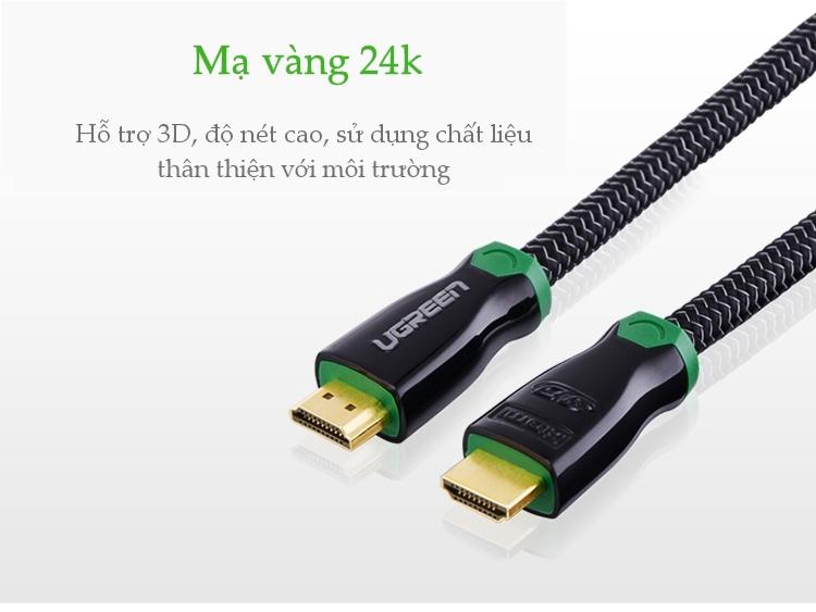 Cáp High-End HDMI 10.2Gbps 19+1 đồng đầu hợp kim, dài 1-12M UGREEN HD126