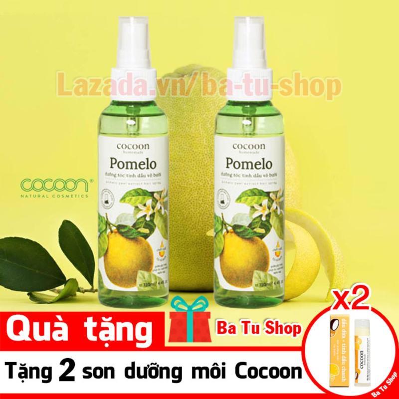 Bộ 2 Chai Xịt Tinh Dầu Bưởi Pomelo (Tặng 2 Son) Ngăn rụng tóc giúp tóc dài và dày hơn 130ml nhập khẩu