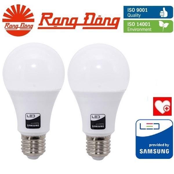 [Lấy mã giảm thêm 30%]2 Bóng đèn LED bulb 15W Rạng Đông - SAMSUNG ChipLED Mới