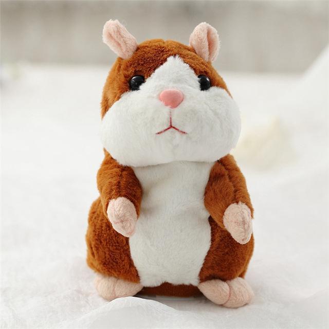 Hình ảnh Chuột HAMSTER nhại tiếng biết nhảy cho bé Talking Hamster (NÂU VÀNG)