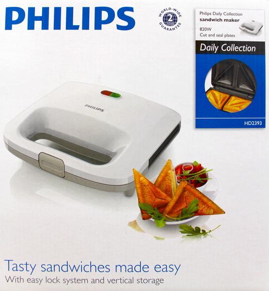 Máy làm bánh hotdog Philips HD2393 (Trắng)