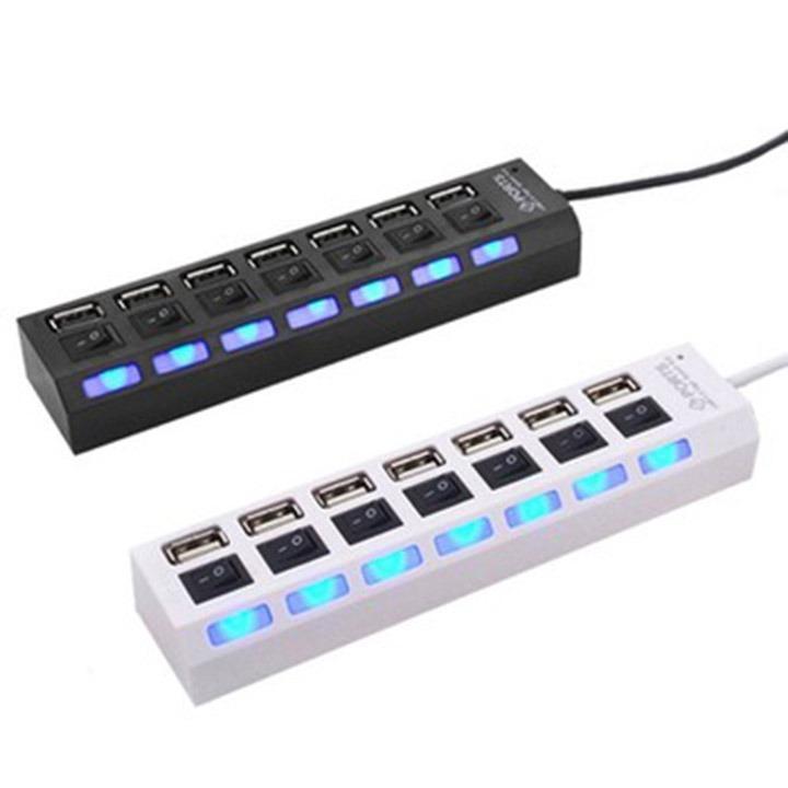 Hình ảnh HUB Chia USB Công Tắc 7 Cổng (Trắng)