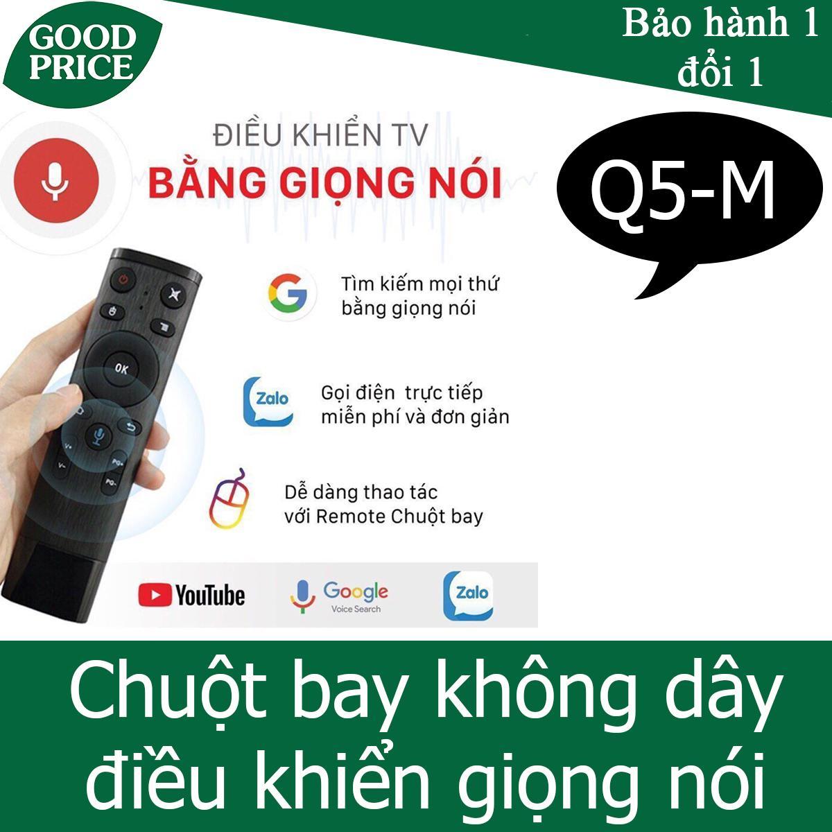 Chuột bay điều khiển giọng nói Q5-M - dùng cho android box, tivi thông minh android