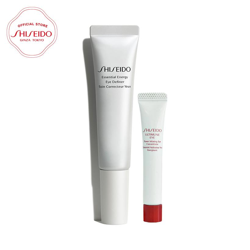 Bộ đôi dưỡng mắt Shiseido Essential Energy Eye Definer và Ultimune Eye Power Infusing Concentrate