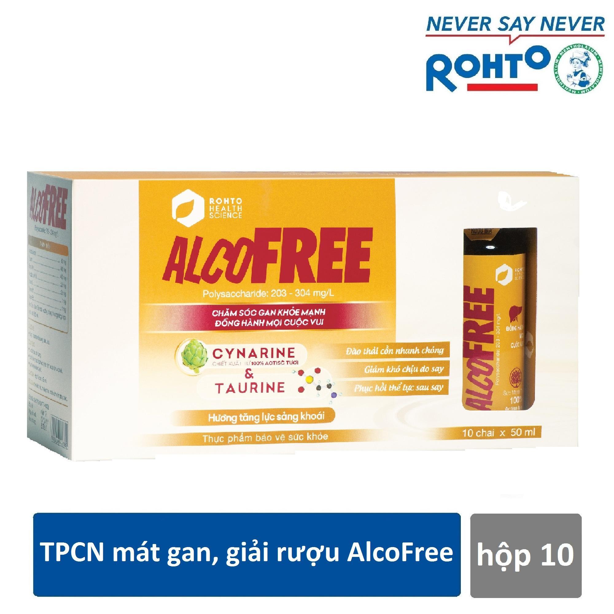 Cửa Hàng Thực Phẩm Chức Năng Mat Gan Giải Bia Alcofree Hộp 10 Chai X 50Ml Alcofree Hồ Chí Minh