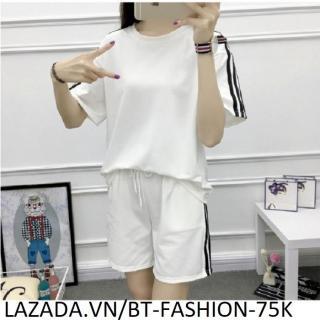 Đồ Bộ Áo Thun Nữ + Quần Đùi Sọt Thun Nữ Thể Thao, Ở Nhà, Đồ Ngủ Thời Trang Hàn Quốc Mới - BT Fashion (DBTT04A-3S) thumbnail