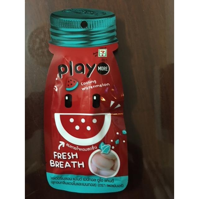 Hình ảnh Combo 10 gói kẹo Play Thái Lan vị dưa hấu bạc hà 12g(1 hop)