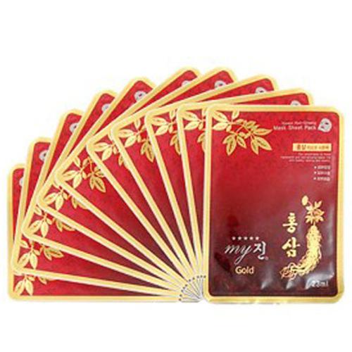 10 Gói đắp mặt hồng sâm chống lão và hóa phục hồi làn da Cao cấp Hàn Quốc nhập khẩu