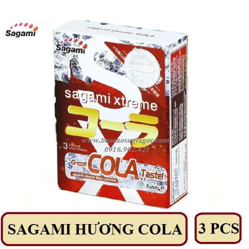 Bao cao su Sagami Cola (hộp 3 bao) cao cấp