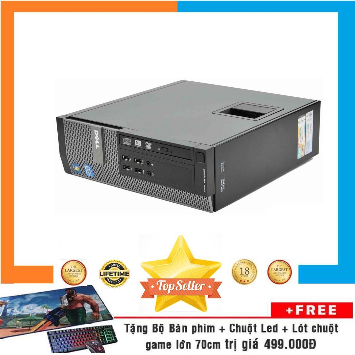 Máy tính chơi GameDell Optiplex 7020 SFF Nguyên Bản, Chạy CPU Core i3 4160, Ram 16GB, SSD 480GB, VGA RỜI 2GB  + Bộ Quà Tặng