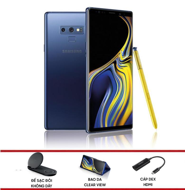 Điện thoại Samsung Galaxy Note 9 - Hãng phân phối chính thức + Tặng Bộ quà Bao da Clear View, Cáp Dex HDMI và Đế sạc đôi không dây