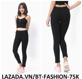 Quần Dài Nữ Thun Ôm Legging Thể Thao Thời Trang Hàn Quốc - BT Fashion (QTT01-TRƠN) thumbnail