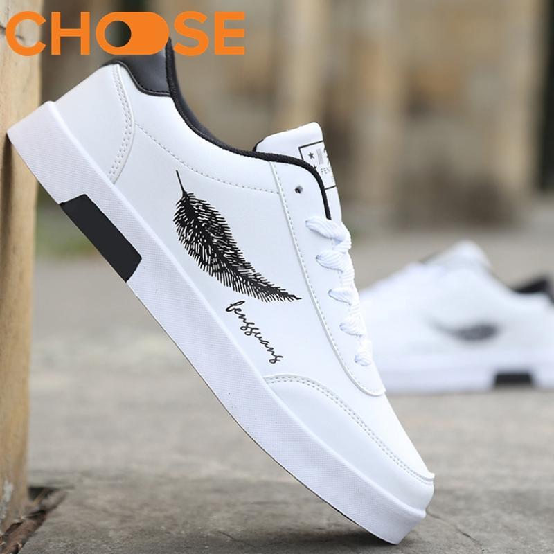 Giày Nam Đẹp /Giày Vẽ Họa Tiết Lông Vũ Ấn Tượng Năm Nay 0606 Với Giá Sốc
