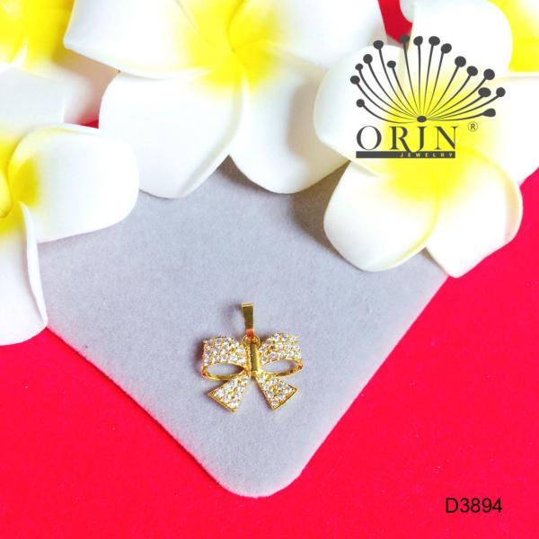 Mặt dây chuyền hình nơ đính đá thời trang cao cấp Orin D3894