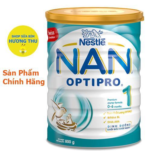Sữa bột Nestle NAN Optipro số 1 lon 800g (cho bé 0 - 6 tháng tuổi)