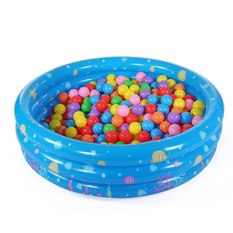 Hình ảnh Nhà bóng tròn 3 tầng kiêm Bể bơi (90xCao30cm)/ Nhà chơi cho trẻ Bể bơi Phao bơi