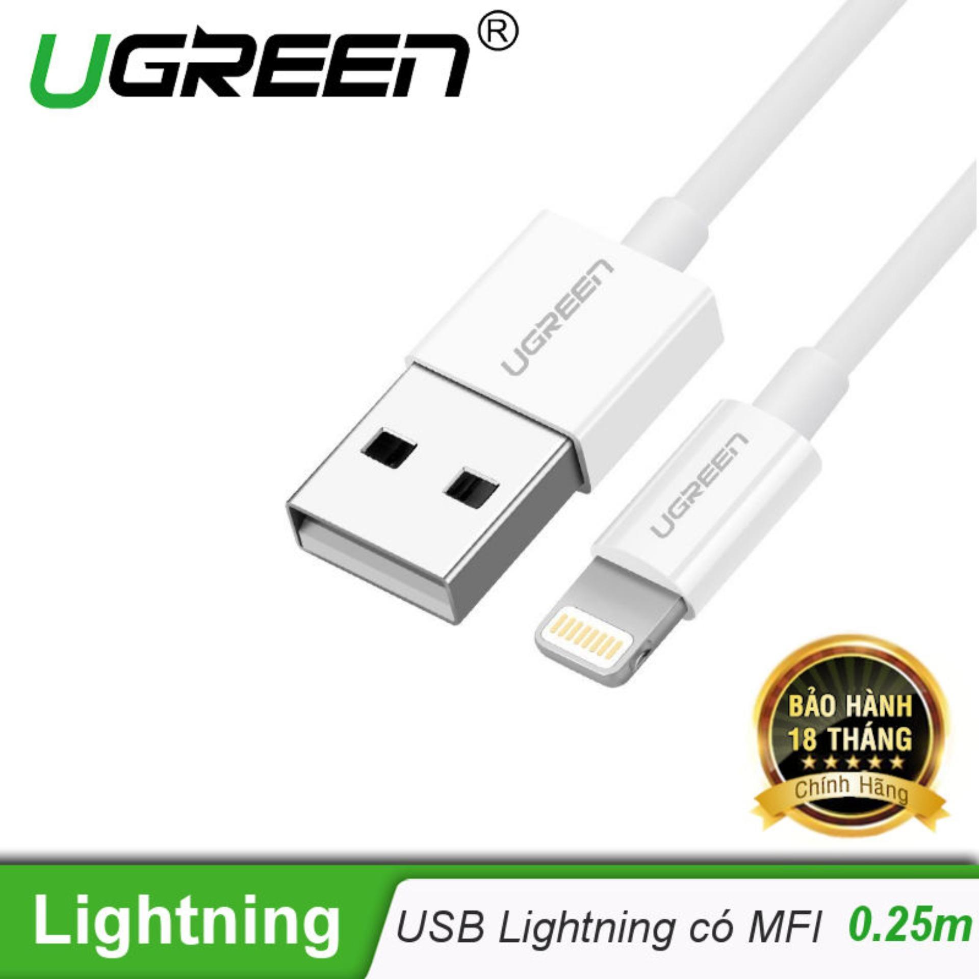 Cửa Hàng Day Usb Lighting Co Chip Mfi 25M Ugreen Us155 20726 Hang Phan Phối Chinh Thức Ugreen Hà Nội