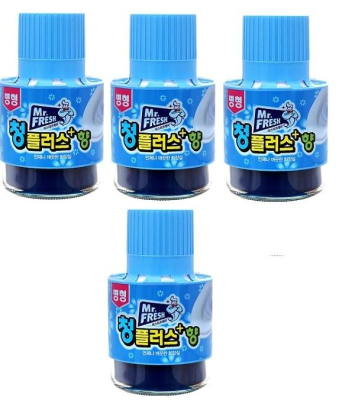 Bộ 4 chai thả tẩy xanh bồn cầu làm sạch diệt khuẩn và làm thơm toilet Mr.Fresh 180g HLS4