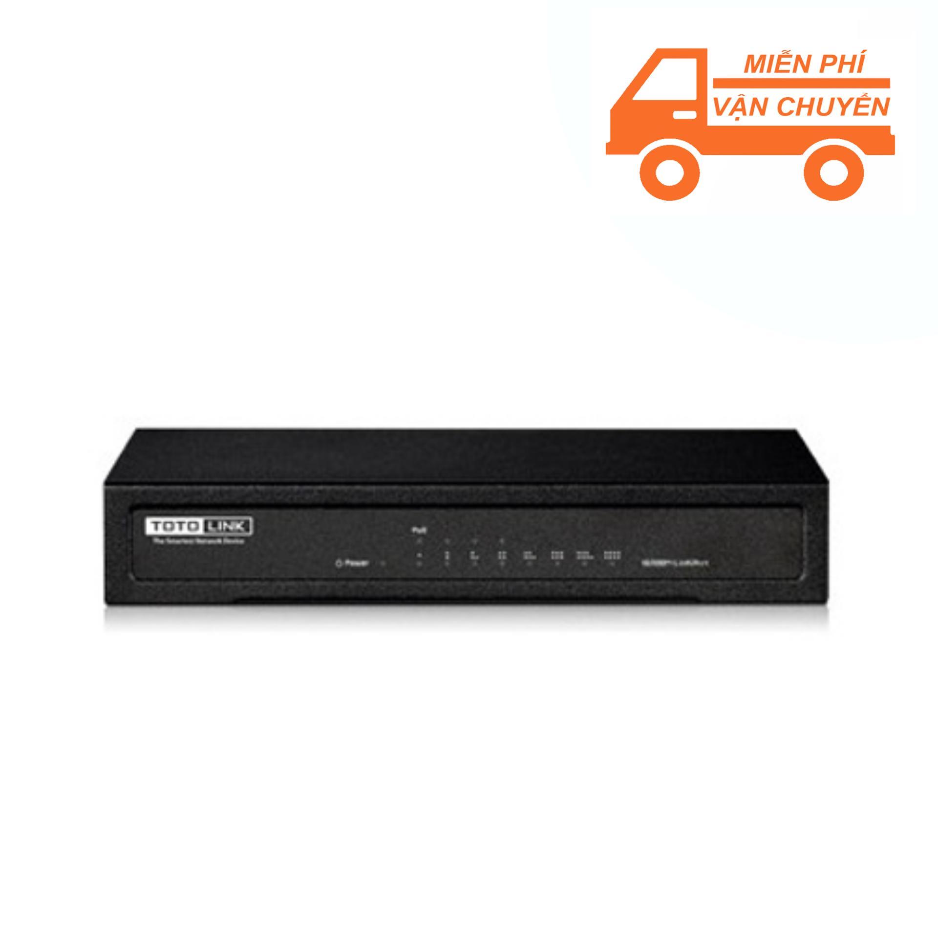 Hình ảnh Switch PoE 100Mbps 8 cổng TOTOLINK SW804P (Đen) - Hãng phân phối chính thức