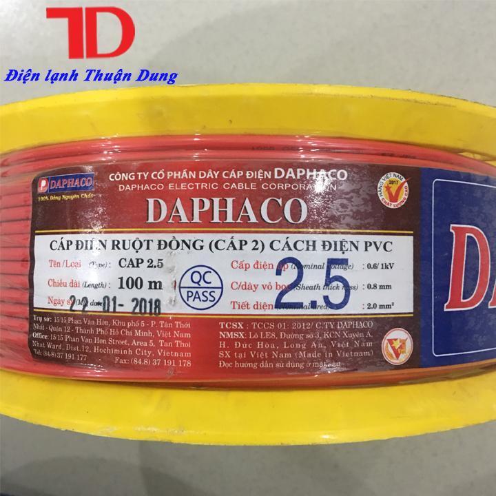 DÂY ĐIỆN ĐƠN DAPHACO 2.5 - 100 MÉT