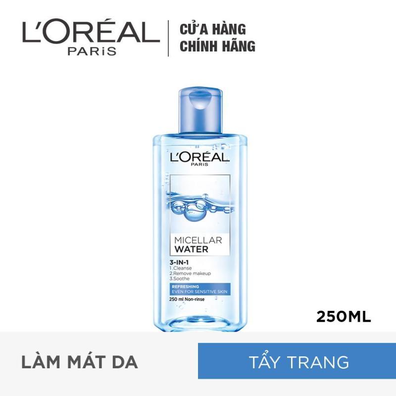 Nước tẩy trang tươi mát LOreal Paris 3-in-1 Micellar Water 250ml
