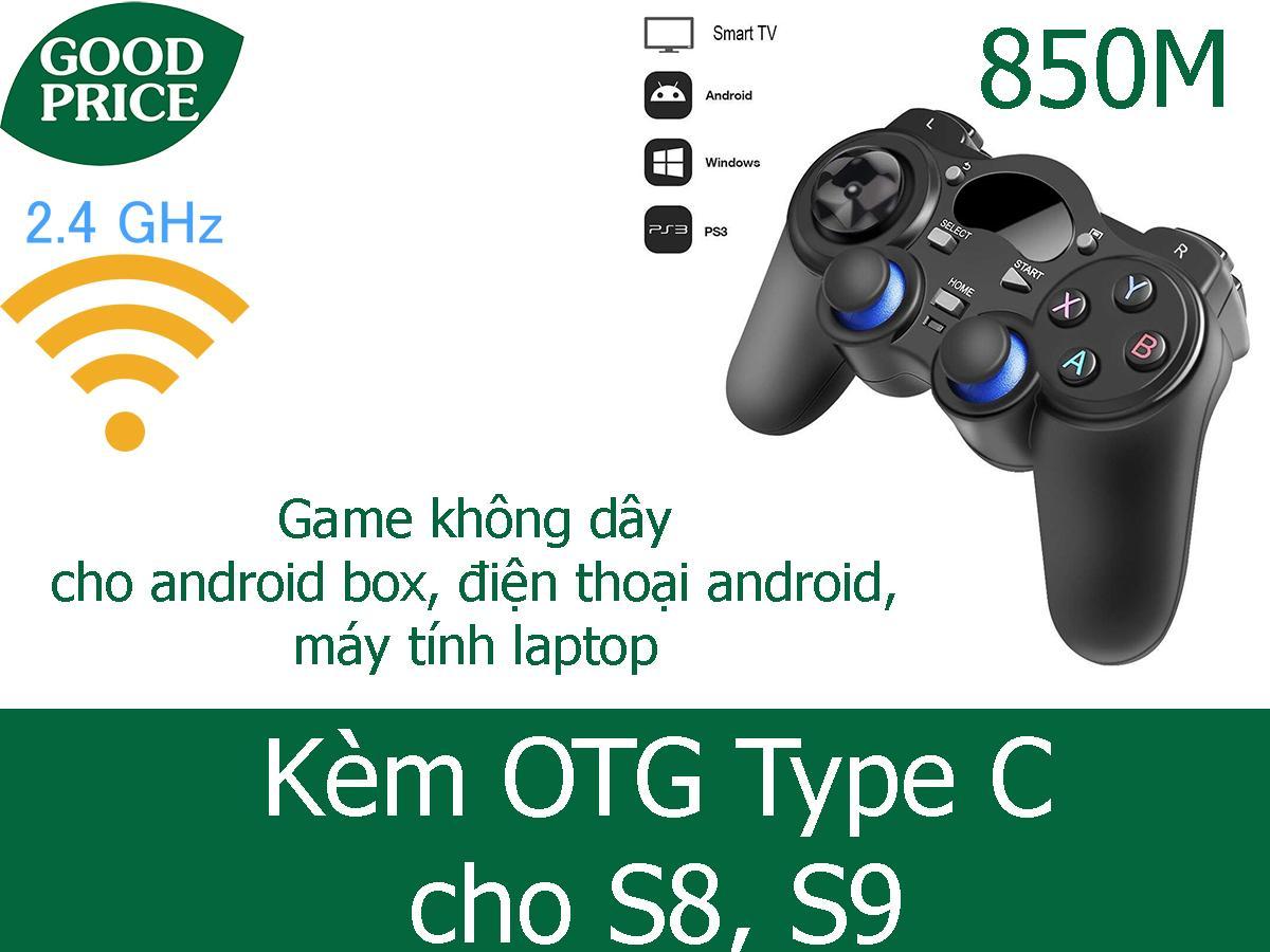 Tay cầm chơi game không dây 2.4Ghz 850M + otg android cho điện thoại Nhật Bản