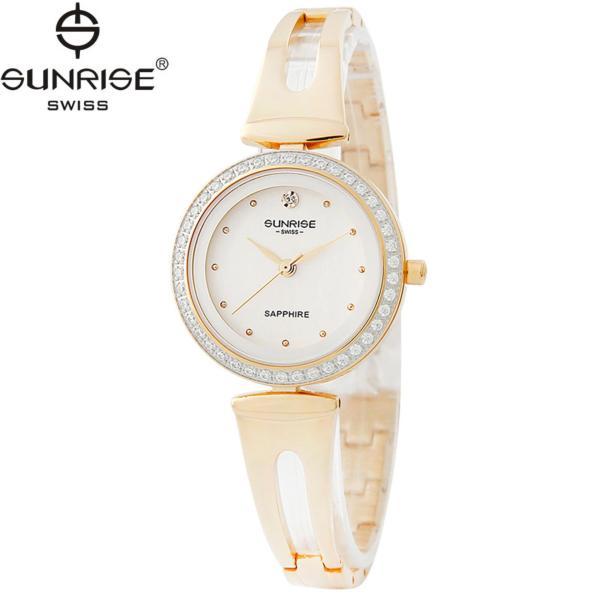 Đồng hồ nữ dây kim loại mặt kính sapphire chống xước Sunrise SL9935D