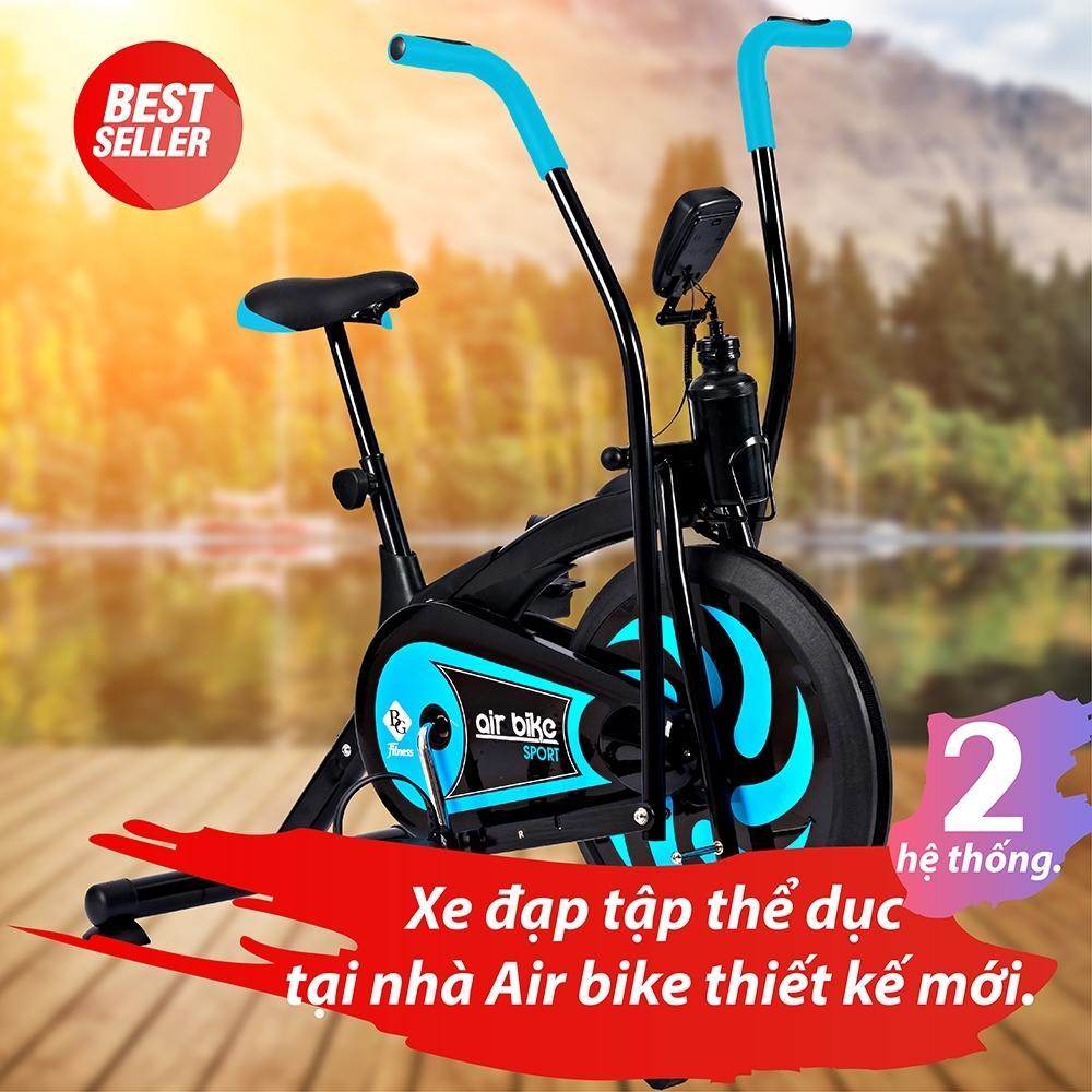 BG - Xe đạp Tập Thể Dục Air Bike Mẫu Mới 2018 (Màu Xanh Ngọc) Giảm Giá Khủng