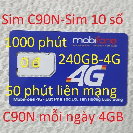 Hình ảnh Sim 4G thần tài NOW(C90N) 240GB+1000 phút -0đ-10 số-chuẩn-QC