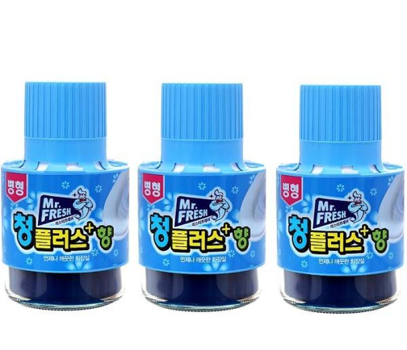 Bộ 3 chai thả tẩy xanh bồn cầu làm sạch diệt khuẩn và làm thơm toilet Mr.Fresh 180g HLS3