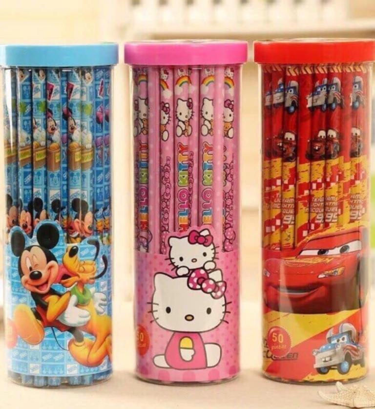 Mua Hộp 50 bút chì gỗ HB hình hoạt hình cho bé