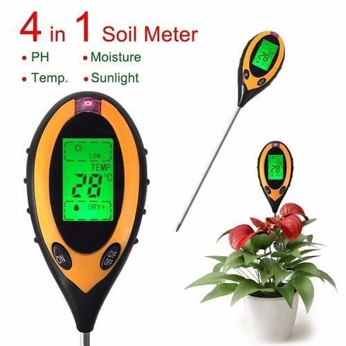 Máy đo độ Ph, độ ẩm, nhiệt độ, ánh sáng của đất 4 in 1
