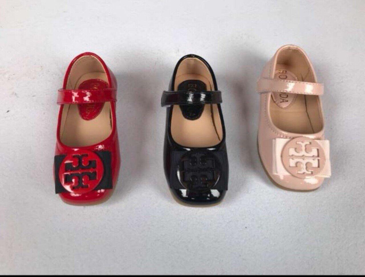 Giá bán [SenXanh] Giày sandal da bóng nơ cho bé gái