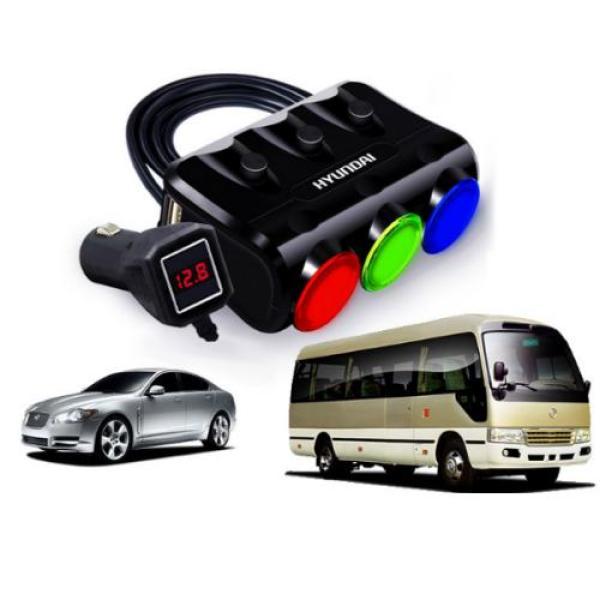 BỘ CHIA TẨU HYUNDAI HY26 - 3 TẨU + 2 CỔNG USB - HYUDAI HY-26 (model 2018)