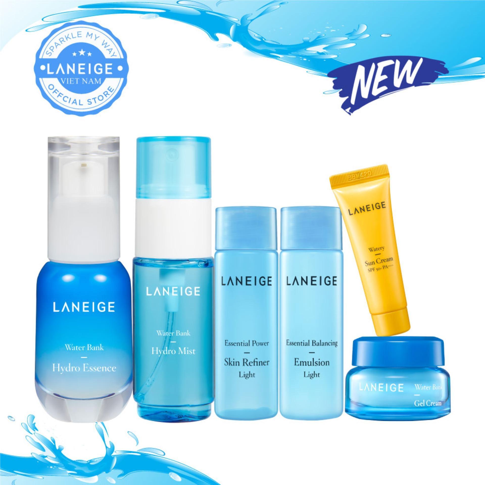 Bộ dưỡng ẩm toàn diện cho mọi loại da Laneige Water Bank Hydro Essence