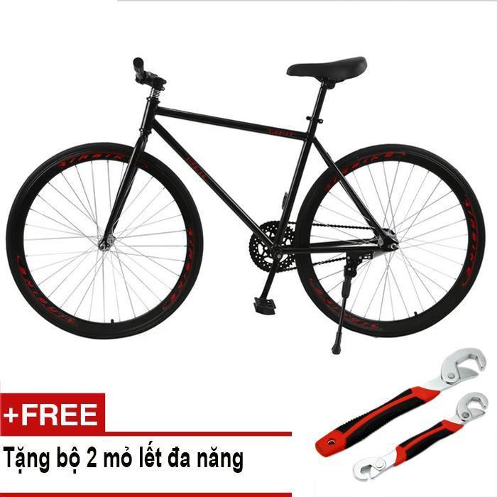 Mua Mishio - Xe đạp Fixed Gear Air Bike MK78 (đen) + Tặng bộ 2 mỏ lết đa năng
